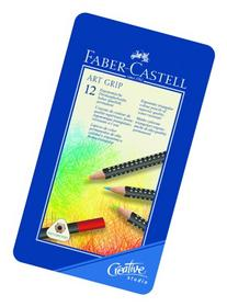Faber-Castell Art GRIP Color Pencils, Tin of 12