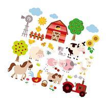 Farm Friends Baby/Nursery Peel & Stick Wall Art Sticker