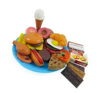 Fast Food & Dessert Play Food Cooking Set for Kids - 30