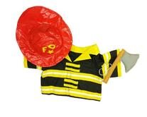 """Fireman Outfit Teddy Bear Clothes Outfit Fits Most 14"""" - 18"""