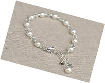First Communion Bracelet-Swarovski Crystals and Pearls,