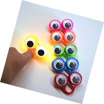 Flashing Finger Eye Puppets- 2 Googly Eyes with Lights. (
