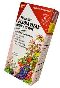 Flora - Floravital Iron + Herbs, 17 fl oz liquid