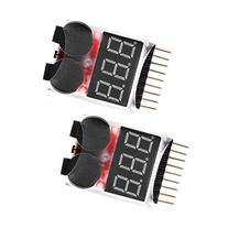 Floureon 2 Packs RC Lipo Battery Monitor Alarm Tester