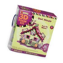 Foamies 3D Foam Kit Halloween Haunted House with Owl - Craft