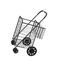 Folding Shopping Cart with Double Basket- Jumbo Size 150 lb