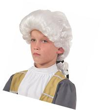 Forum Deluxe Colonial Child Wig, White