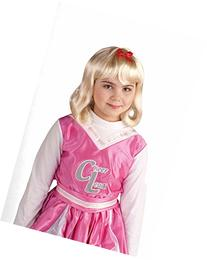 Forum Lil' Cheerleader Child Wig, Blonde