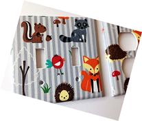 Fox Light Switch Plate Cover - Various Sizes Offered