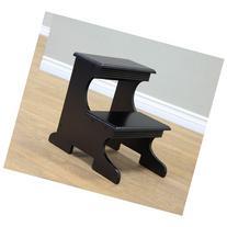 Frenchi Home Furnishing Step Stool, Black Finish