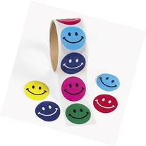 Fun Express 100 Smile Face Roll Stickers