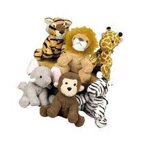 Fun Express Assortment Suede Jungle Animal