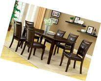 Furniture of America Carlson 7-Piece Dining Table Set with