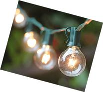 25 Clear Globe G40 String Lights Set, 25 Feet