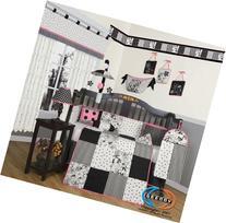GEENNY Boutique Crib Bedding Set, Beautiful Black White
