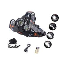 GHB Headlamp LED Headlamp 5000LM Flashlight 3x LED 4 Modes