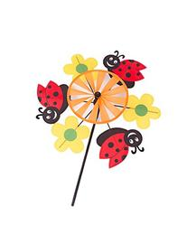 Garden Ladybugs and Flowers Windmill Pinwheel Spinner Kit