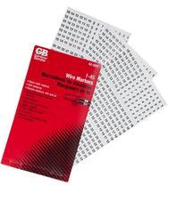 Gardner Bender 42-029 Pocket Wire Marker Booklet, 1-45