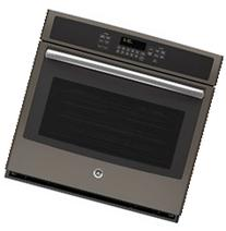 "Ge - 30"" Single Electric Convection Wall Oven - Slate"