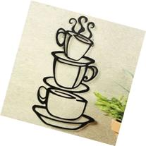 Coffee House Cup Java Silhouette Wall Art Sticker, Metal
