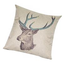 Decorbox Cotton Linen Decorative Throw Pillow Case Cushion