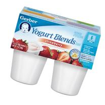 Gerber Yogurt Blends,Strawberry, 4-Count, 3.5-Ounce Cups