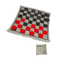 "25"" Square Giant Checkers Game Rug by Trademark Innovations"