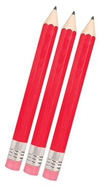 Giant Pencil - 3 Pack Really Big Pencil - RED