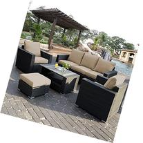 Giantex 7pc Outdoor Patio Patio Sectional Furniture Pe