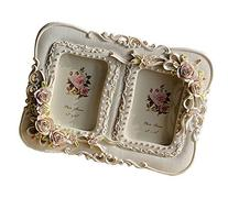 Giftgarden Rose Decor 2.5x3.5 Double Picture Frame for Photo