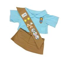 Girl Scout Blue Outfit Teddy Bear Clothes Outfit Fits Most