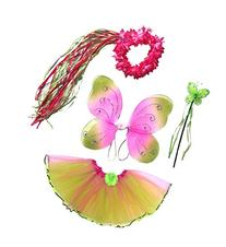 Girls Fairy Costume with Wings, Tutu, Wand & Halo Fits Age 2