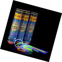 "Glow Sticks Bulk 300 Count -  8"" PartySticks Brand Premium"