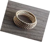 Gold Rope Ring,Stackable Ring,Twisted Ring ,Rope band,Simple