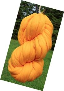 Goldenrod Merino Wool Top Roving Fiber Spinning, Felting
