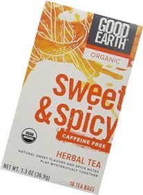 Good Earth Teas Organic Sweet and Spicy Caffeine Free Herbal