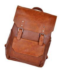 Laptop Backpack Knapsack Rucksack Daypack Bag Pu Leather for