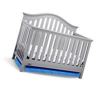 Graco Bryson 4-in-1 Convertible Crib, Pebble Gray, Easily