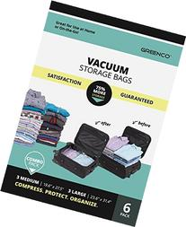 Greenco Vacuum seal, Space Saver Storage Bags - Variety - 6