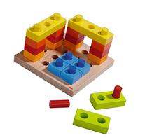 HABA - Color Fun Pegging Game - Build, Stack, and Take Apart