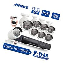 SANNCE 8CH 1080P Ture PoE NVR Security Camera System and  2