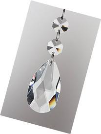HIGHROCK Teardrop Chandelier Crystal, Pack of 10 + a clean