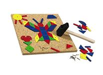 HABA Geo Shape Tack Zap - Geometric Designs with Corkboard,