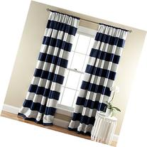 Blackout Window Curtain in Navy - Set of 2