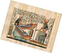 Hand Painted in Egypt Natural Papyrus Painting, Goddess Isis