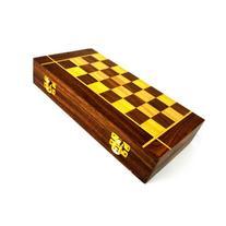 Handmade Folding Chess and Backgammon Game - Matr Boomie