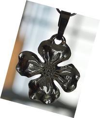 Hand Cast Pewter Dogwood Flower Pendant/Charm