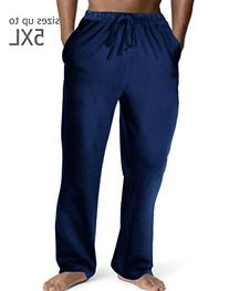 Hanes 1001 Menscomfortsoft Jersey Cotton Lounge Pants Blue