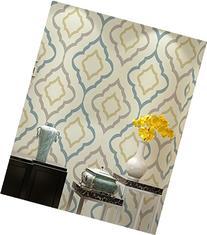 HaokHome 230 Modern Geometric Trippy Wallpaper Rolls Cream/