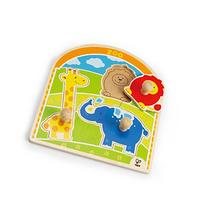 Hape At the Zoo Toddler Wooden Knob Puzzle